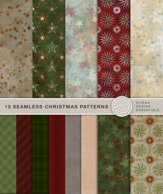 free christmas seamless photoshop patterns