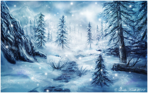 Free Land of winter Desktop Background