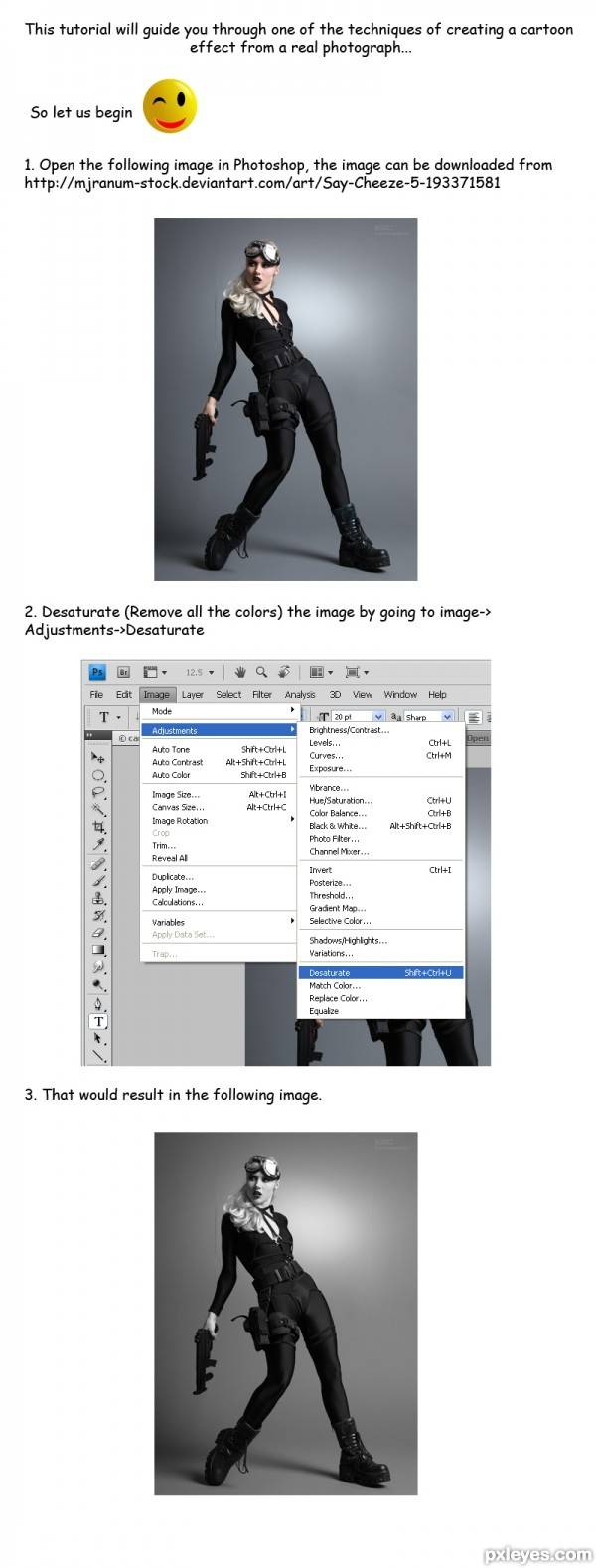 Creating Cartoon Effect With Photoshop Step1
