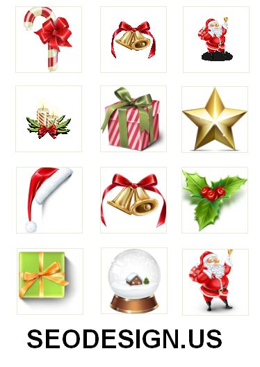 free christmas decoration icons pack download