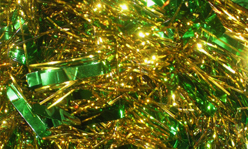 Free Green Christmas Tinsel Texture