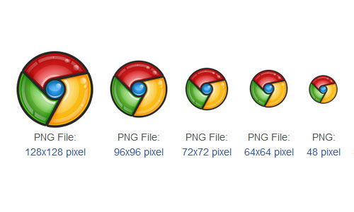 Google Browser Chrome Icons