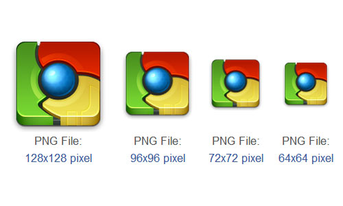 Free Google Chrome Browser Icons