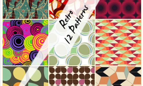 12 Free Retro Patterns Download