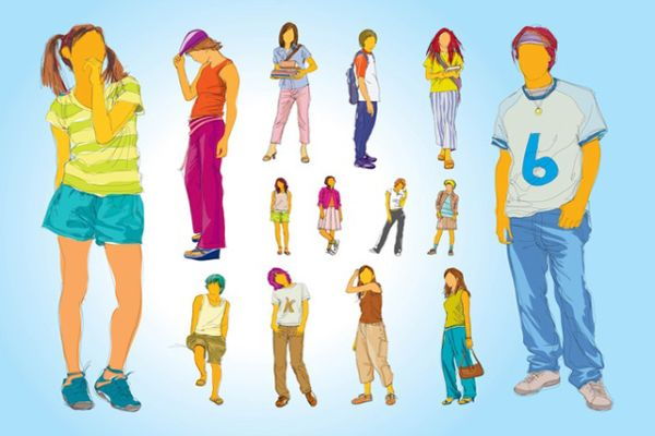 Free teenager vector graphics