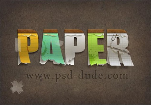Create-a-Paper-Text-in-Photoshop
