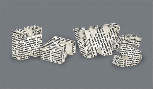 Newspaper Text Effect