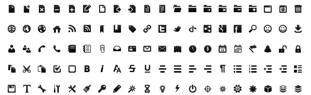 Black & White Toolbar Icon Set by gentleface.com