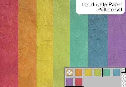 Handmade Paper - 7 Patterns