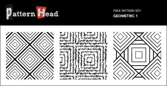 Geometric Set - 3 Patterns