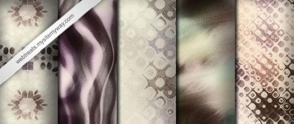 Grainy Whitewashed Worn Seamless 5 Patterns