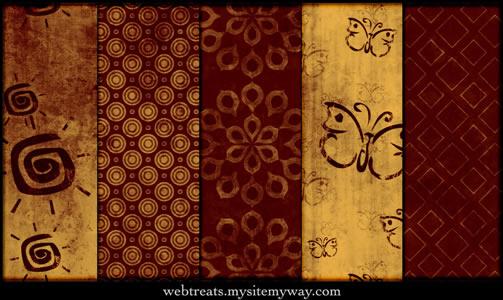 Vivid Red Tileable Patterns - 5 Patterns