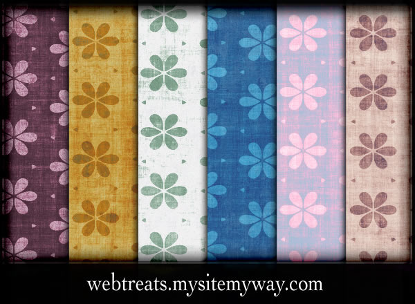 Grungy Floral Patterns - 10 Patterns