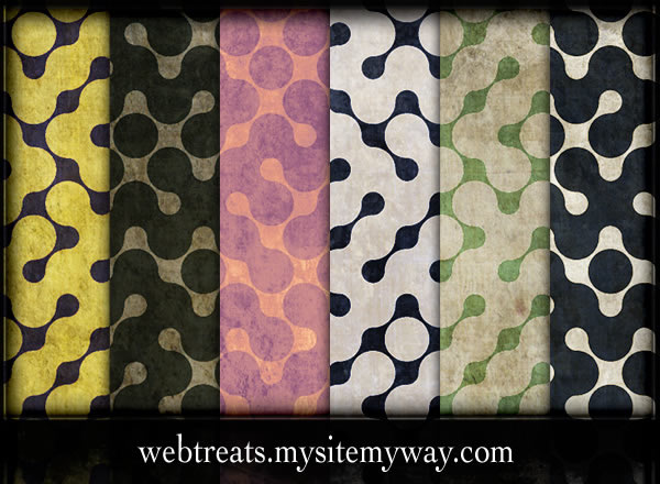 Retro Grunge Abstract Maze - 6 Patterns