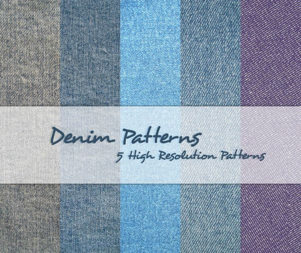 Free Denim Textile Photoshop Patterns
