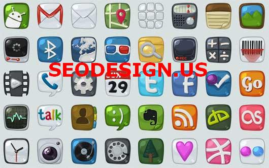 free android mobile social icons