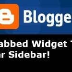 Add Tabbed Widget To Blogger Sidebar