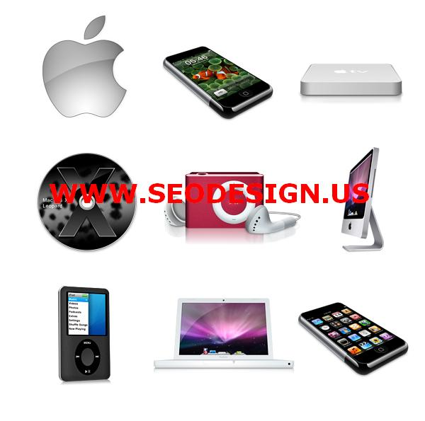 free apple products web icons set download
