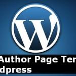 Create Custom Author Profile Page To Wordpress Theme