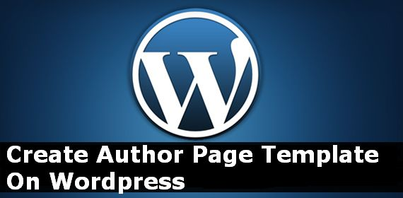 create and add custom author template to wordpress theme