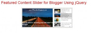 jquery slider for featured content tutorial