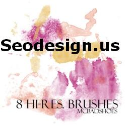 Free watercolor photoshop bushes Download