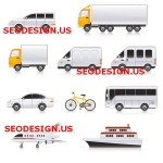 50+ Transport Cars Truck Vector Icons
