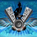 Dj Music Blue Flyer Footage Template