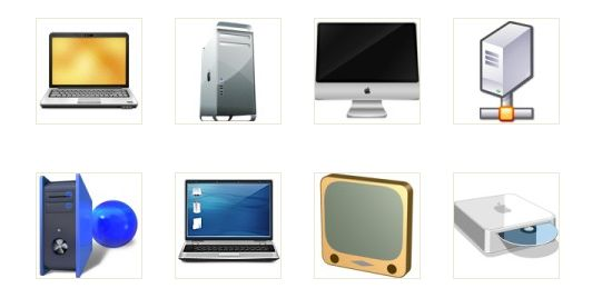 Free glossy computers icons