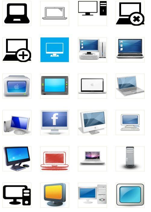 60 Glossy Computer Icons Set