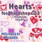 70+ Retro Hearts Photoshop Brushes