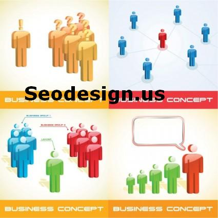 3D Business People Vector illustration