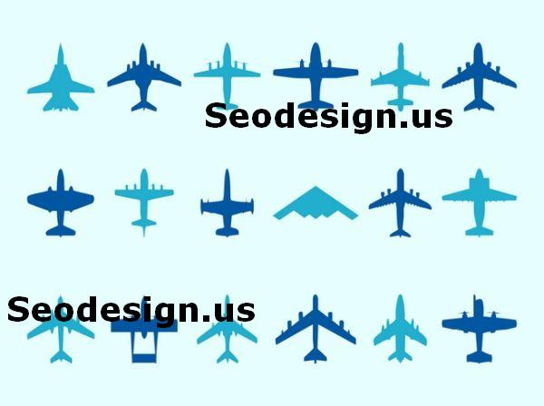 Airplane Vector Silhouettes
