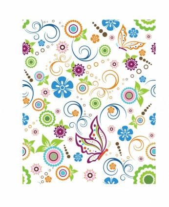 Butterfly flowers patterns