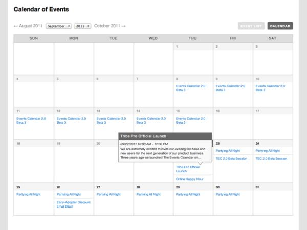 Design Calendar Of Events : Add calendar with events wordpress plugins best