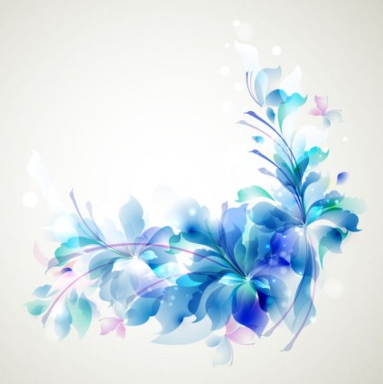 Cute blue patterns vector backgrounds