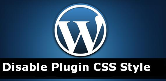 Disable Plugin Stylesheet From Wordpress