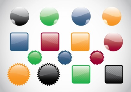 Colorful Glossy Web Vector Buttons