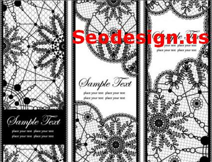 Lace Patterns Vector Backgrounds