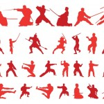 50+ Martial Art Vector Silhouettes