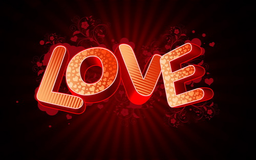 Create 3D Love text Effect With Photoshop
