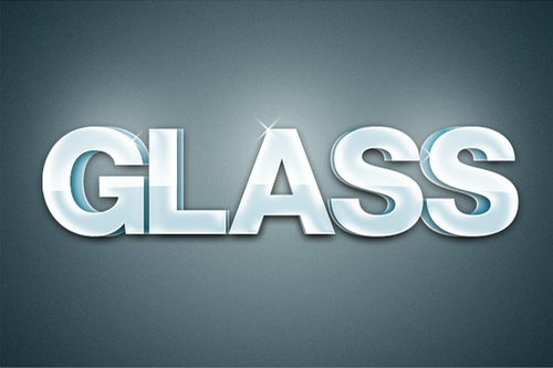 Glossy 3D Text Effect Photoshop Tutorial