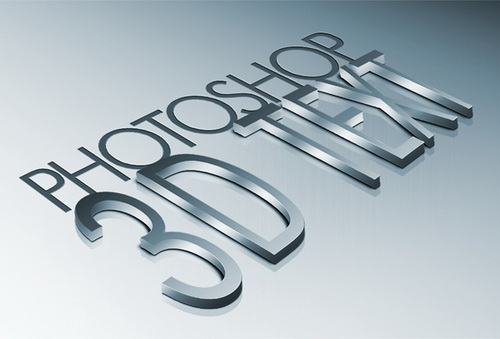Create High Quality Metal 3D Text in Photoshop