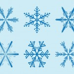 Cute Snowflakes Graphics Vector Illustrations