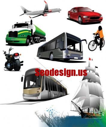 Transport Cars Vector Icons Illustration