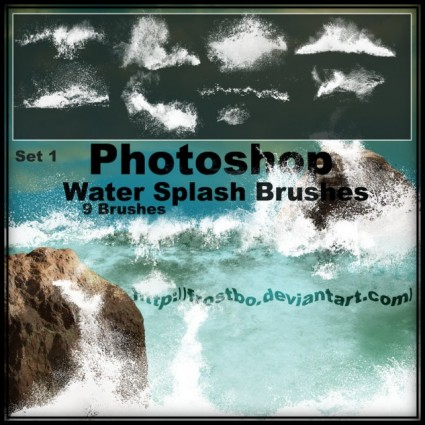 Water Splashes Photoshop Brushes