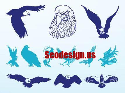 Eagle Vector Graphic Silhouettes
