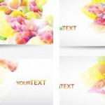 6 Floral Abstract Backgrounds