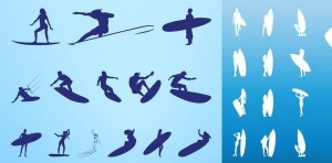Surf Vector Silhouettes Download
