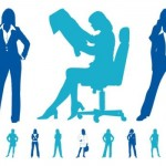 20+ Business Women Vector Silhouette